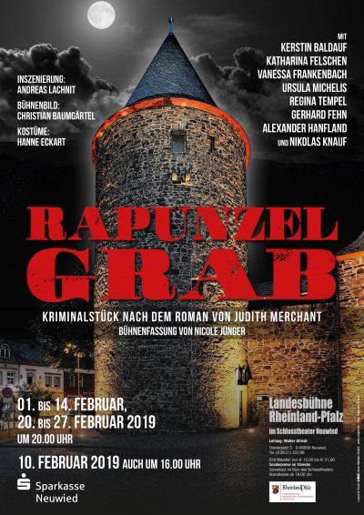 Theaterplakat Uraufführung Rapunzelgrab Schlosstheater Neuwied